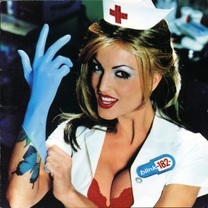 The original version of the Enema album cover with the red cross intact.