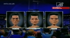 Travis, Tom and Mark on Celebrity Deathmatch. Shockingly accurate likenesses.