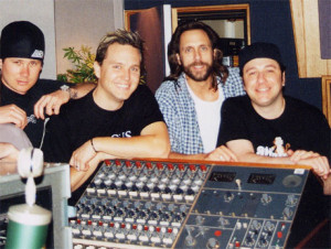 The late Jerry Finn working with Tom and Mark in the early 2000's.